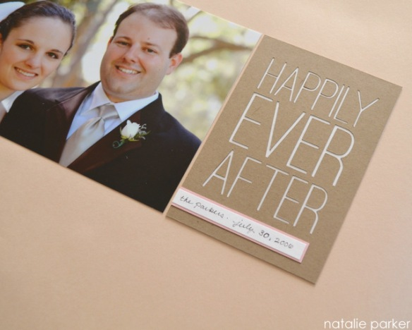 Happily Ever After Scrapbook Layout by Natalie Parker