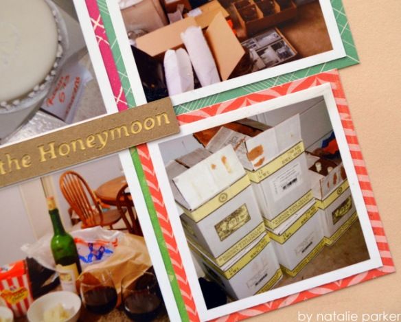 Honeymoon Scrapbook Layout by Natalie Parker