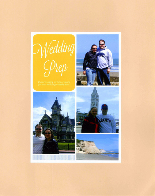 Wedding Prep Scrapbook Layout by Natalie Parker
