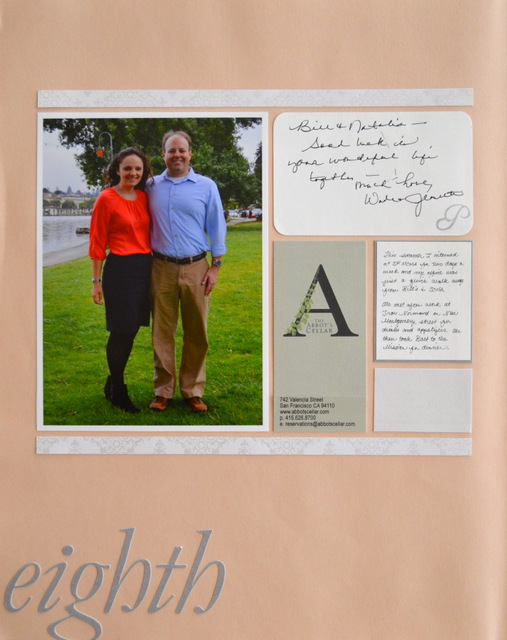 Anniversary Scrapbook Layout by Natalie Parker
