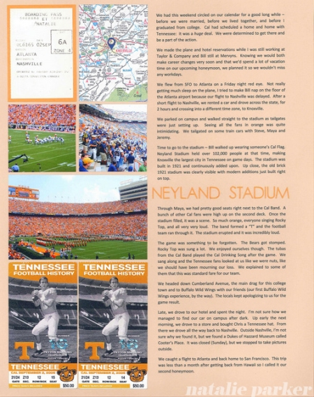 Football Roadtrip Scrapbook Layout by Natalie Parker