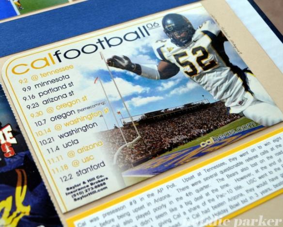 Football Season Scrapbook Layout by Natalie Parker