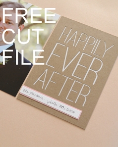 Free Happily Ever After Cut File for Project Life or Scrapbook from Natalie Parker