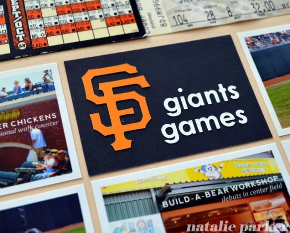 Giants Baseball Scrapbook Layout by Natalie Parker