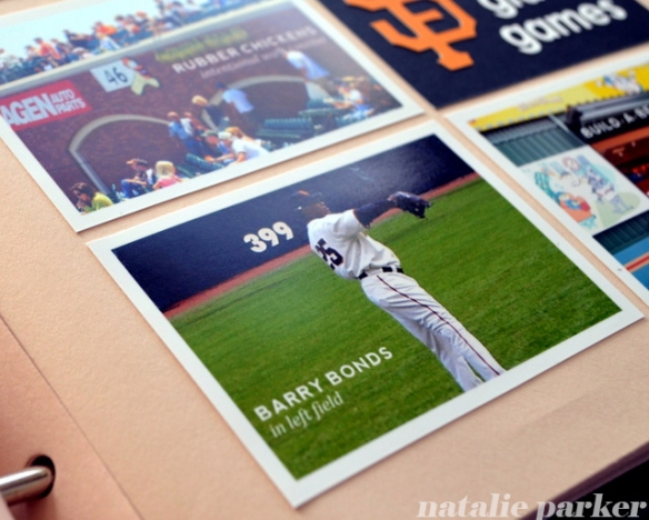 Giants Baseball Scrapbook Layout by Natalie Parker