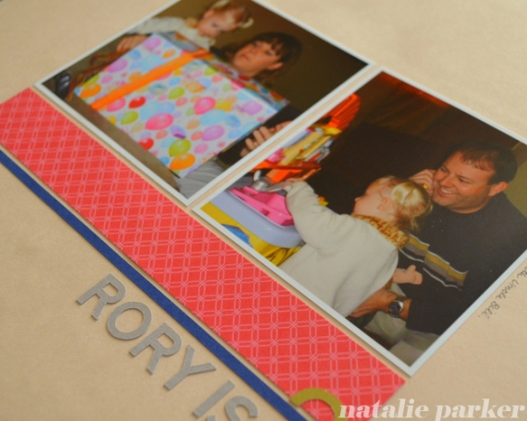 Kids Birthday Scrapbook Layout by Natalie Parker
