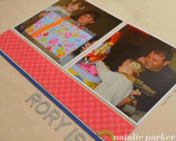 Kids Birthday Scrapbook Layout by Natalie Parker