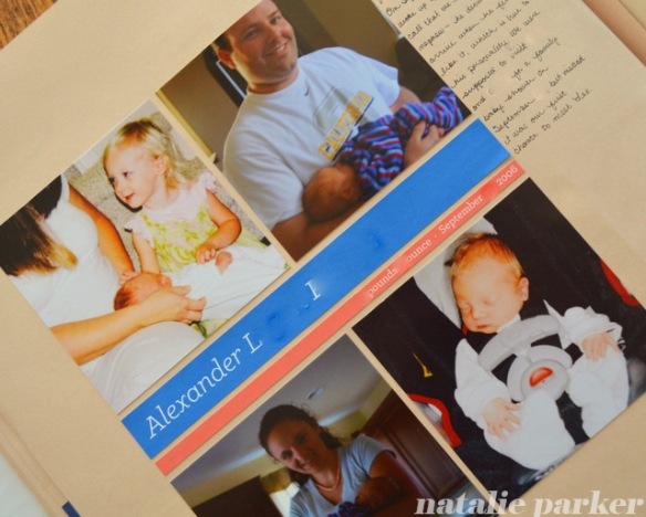New Baby Scrapbook Layout by Natalie Parker