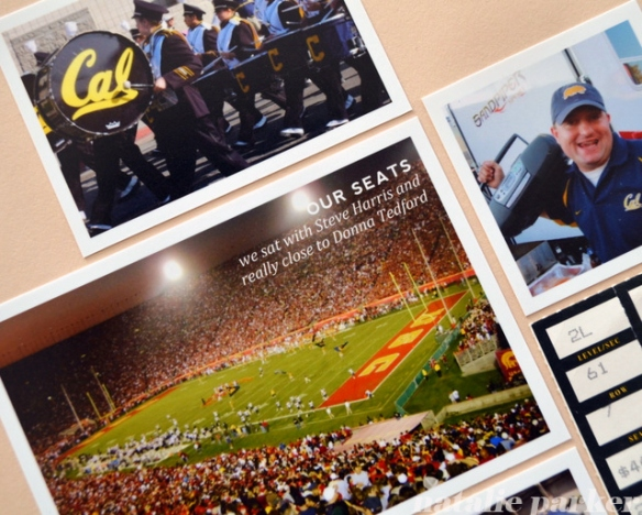 USC Football Roadtrip Scrapbook Layout by Natalie Parker