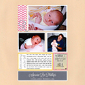 Baby Birth Scrapbook Page