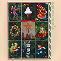 Christmas Tree Ornament Scrapbook Page