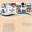 Trip to Las Vegas Scrapbook Page