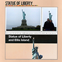 New York Statue of Liberty and Ellis Island Scrapbook Page