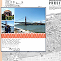 San Francisco Golden Gate Bridge and Palace of Fine Arts Scrapbook Page