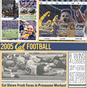 2005 Cal Football Season Scrapbook Pages
