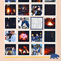Big Game Bonfire Rally Scrapbook Page