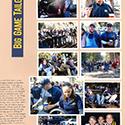 Big Game Football Tailgate Scrapbook Layout