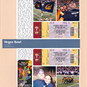 Las Vegas Football Bowl Game Scrapbook Page