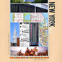 New York Scrapbook Page
