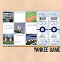 New York Yankees Baseball Game Scrapbook Page