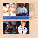 Baby Birth Scrapbook Page