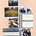 College Football Roadtrip Scrapbook Page