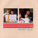 Child's Birthday Scrapbook Page