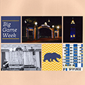Big Game Week Scrapbook Pages