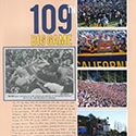 109th Big Game Scrapbook Page