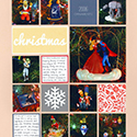 Christmas Ornaments Scrapbook Page