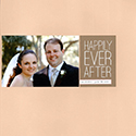 Just Married Scrapbook Page