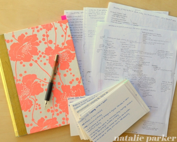 Thesis Notebook and Notes by Natalie Parker