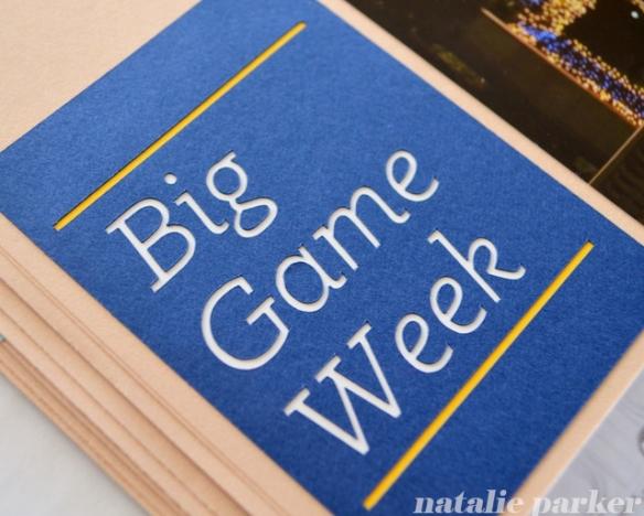 Big Game Week Scrapbook Layout by Natalie Parker