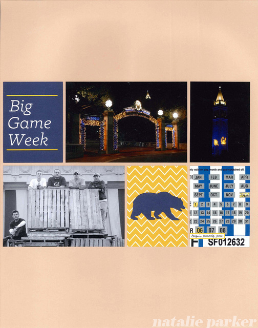 Big Game Week Scrapbook Layout by Natalie Parker