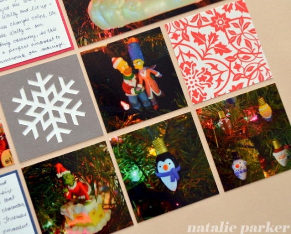 Christmas Scrapbook Layout by Natalie Parker