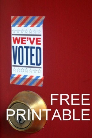 Free Printable Voting Sign by Natalie Parker