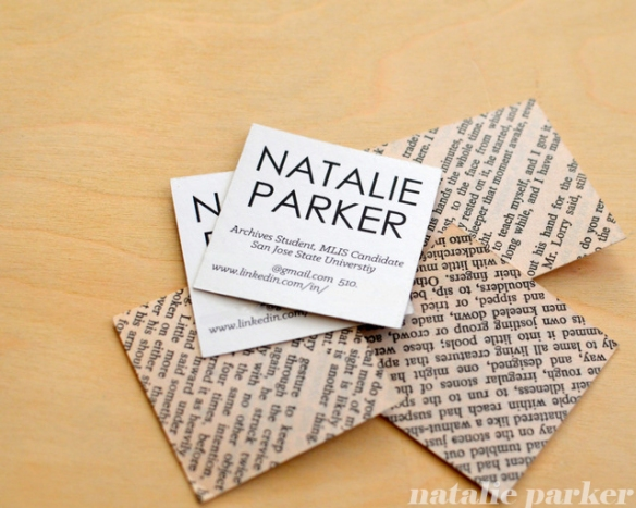 Grad Student Square Business Cards by Natalie Parker