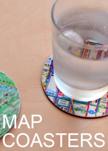 Map Coasters by Natalie Parker