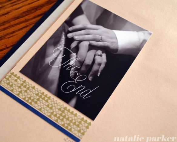 Scrapbook Layout End Page by Natalie Parker