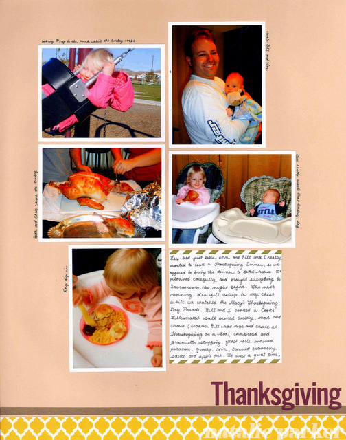 Thanksgiving Scrapbook Layout by Natalie Parker