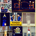 College Campus Decorations Scrapbook Page