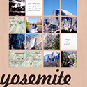 Yosemite National Park Scrapbook Page