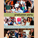 Graduation Party Scrapbook Page
