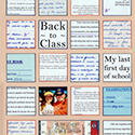College Classes Scrapbook Page