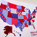 Patterned Paper Map
