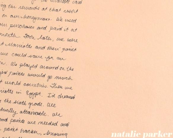 Points Scrapbook Page by Natalie Parker