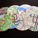 How to Make Map Coasters