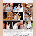 Wedding Getting Ready Scrapbook Page