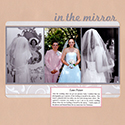 Mother-Daughter Wedding Scrapbook Page