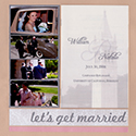 Wedding Program Scrapbook Page